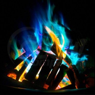 Mystical Fire is a small packet of powders that change the colour of the flames in campfires or even a home wood fire to blue, orange, red or even green £1.54