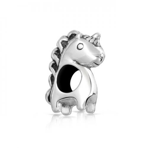Bling Jewelry Sterling Silver Unicorn Animal Bead Charm Pandora Compatible