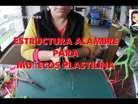 PLASTIEVALINAS: ✴️ Cómo hacer estructura alambre para muñecos Plas...