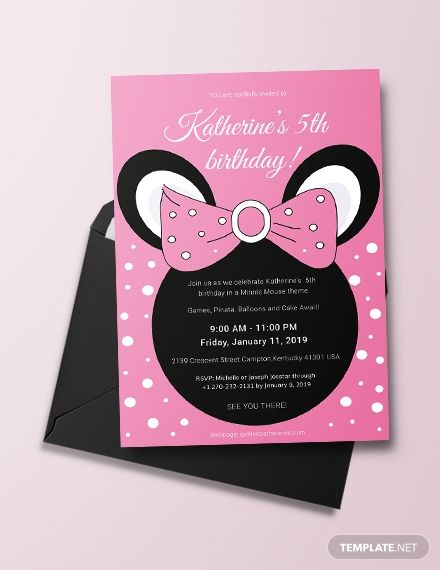 You Will Definitely Love This Super Cute Minnie Mouse Birthday Invitation Template Is A