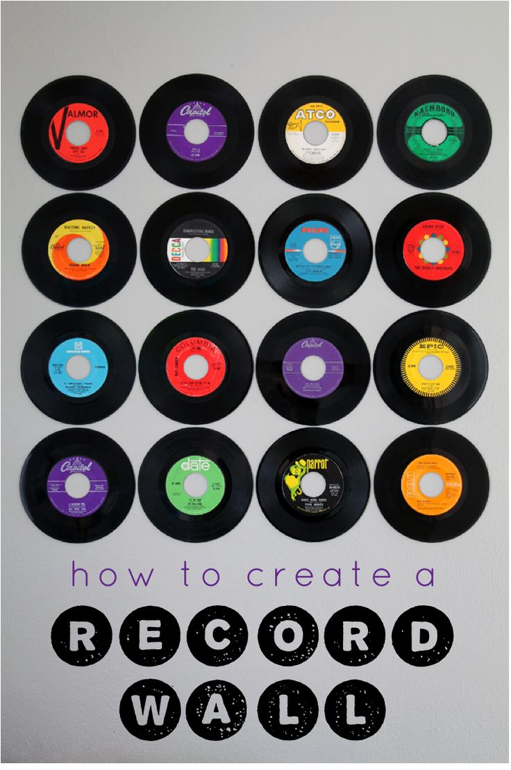 This would be soooo cool. Except I don't have any 45s and I have a feeling it wouldn't be the same with the 33 1/2 RPMs. And I'd rather listen to them than hang them on my wall xD but it's still pretty awesome