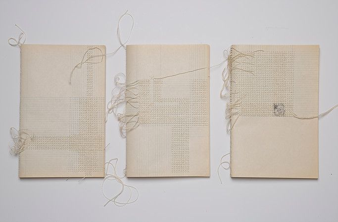 Dominique Schwarzhaupt | bookbinding and drawing. embroidery on paper
