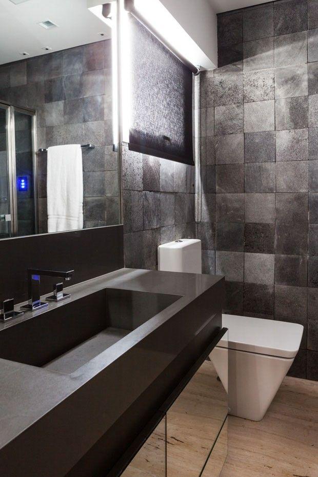 25+ melhores ideias sobre Apartamento Masculino no Pinterest  Quarto de solt -> Banheiro Decorado Com Material Reciclado