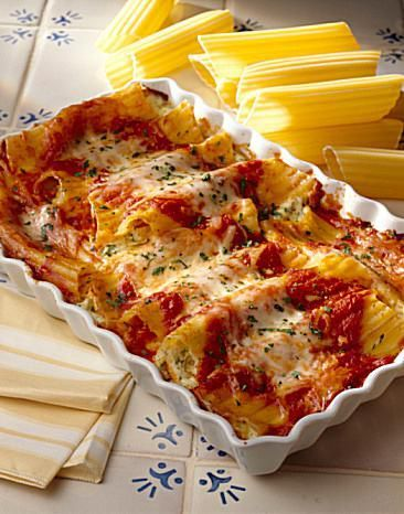 This simple five ingredient pasta casserole recipe for Chicken Manicotti tastes like you spent all day cooking.