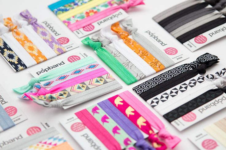 "Colourful hair accessories for festival season! Say ""hello"" to popbands for ultra-cute hair ties!"