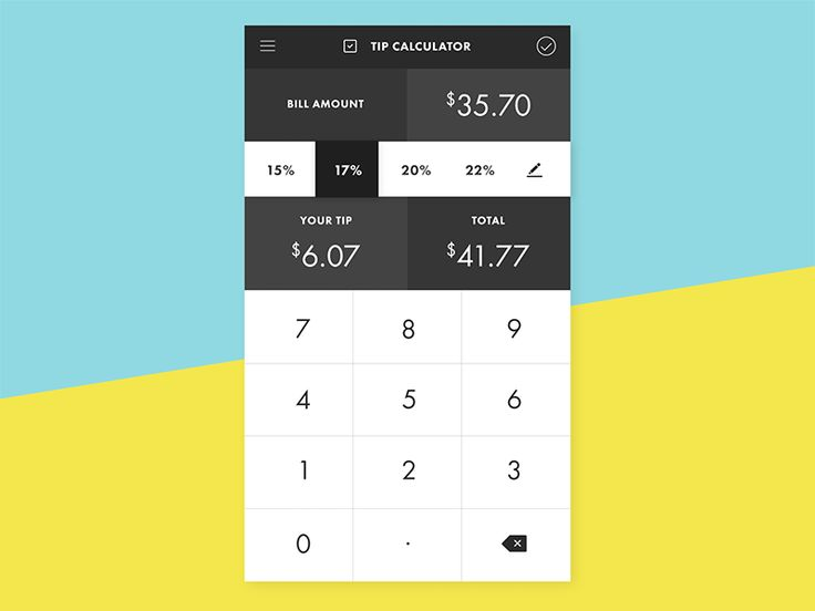 Day 4- I pictured a tip calculator app for this challenge.   view in 2x