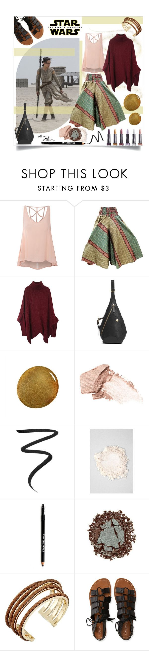 """Not Your Bae"" by stormypeterson ❤ liked on Polyvore featuring Glamorous, Mismo, NARS Cosmetics, Urban Decay, Eyeko, e.l.f., Lord & Taylor, Cole Haan and Aéropostale"