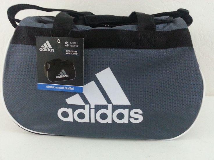 Adidas Diablo Small Duffel Bag Gray/Black/White Gym Sport Travel Carry On NWT #Adidas #ebay #adidas #DuffelBag #GymSport