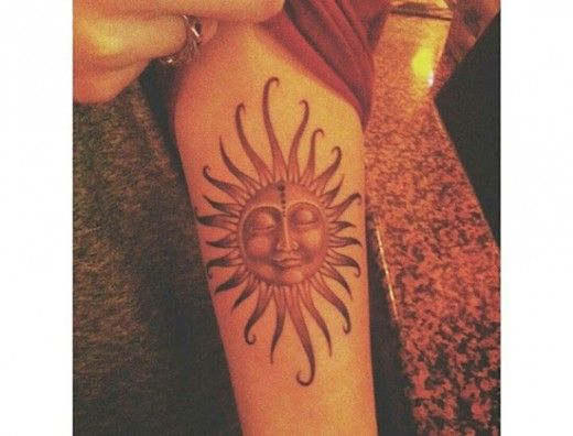 Best 25+ Hippie Sun Tattoo Ideas On Pinterest