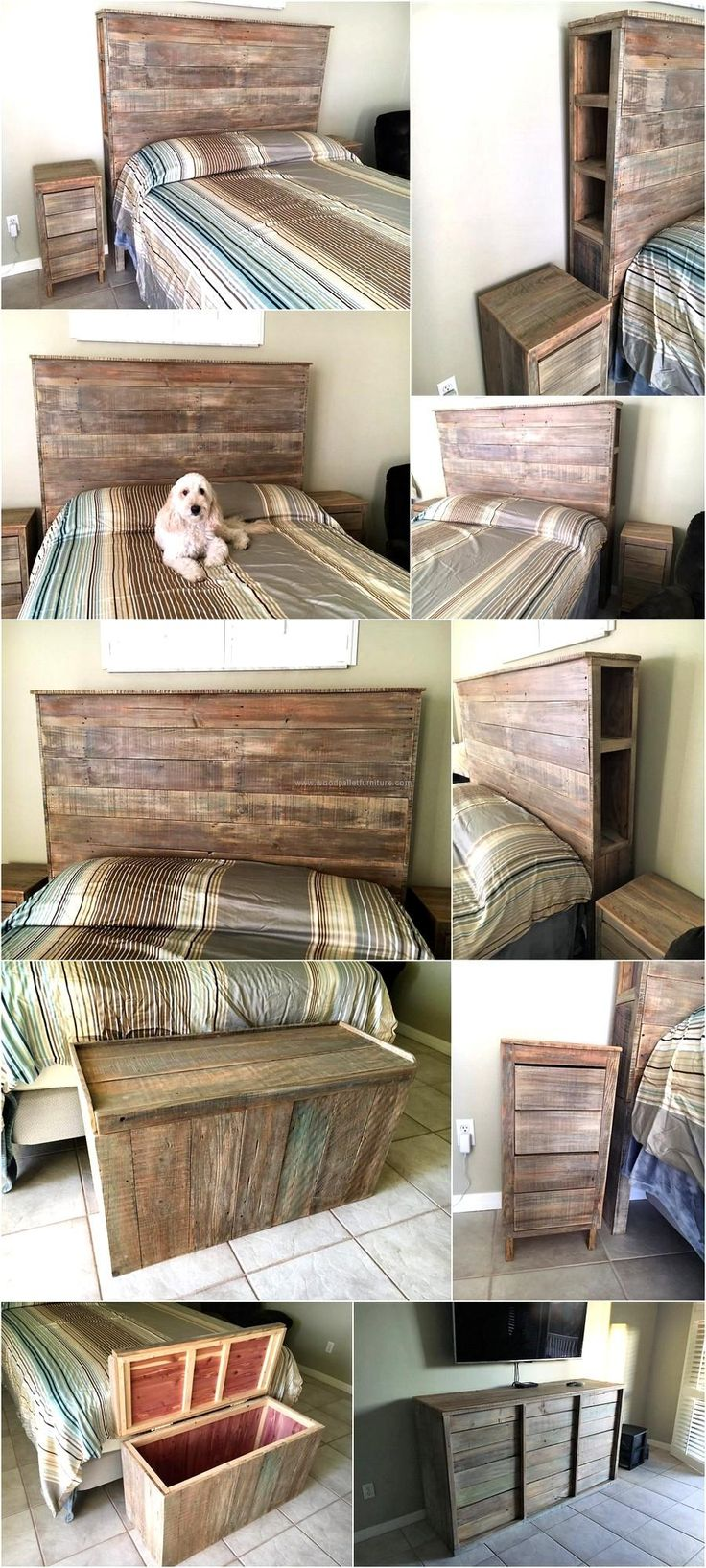Bedroom Furniture Made From Pallets best 25+ pallet bedroom furniture ideas on pinterest | pallet