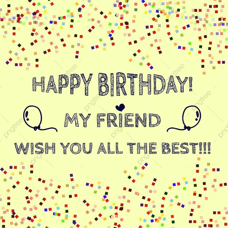 Gambar Hari Jadi Sahabat 01 Hari Jadi Kartu Ulang Tahun Kartu Ucapan Png Dan Vektor Untuk Muat Turun Percuma Birthday Best Friends Happy Birthday