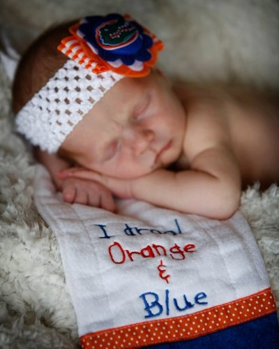Florida Gator Bow  will customize teamson by SweetPeasandMamaBees, $10.00  This could easily be a Boise state fan as well!!