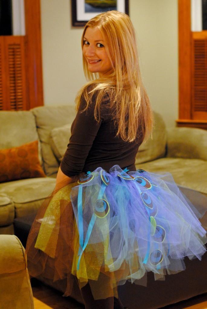 DIY Halloween DIY Costumes DIY Animal Costume  DIY peacock tutu