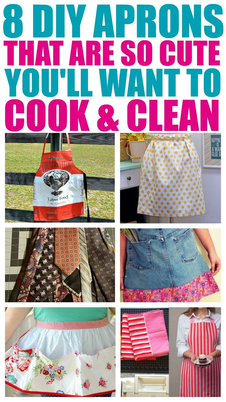 8 Easy Aprons Upcycles To Make Your Spring Cleaning A Breeze! - That Vintage Life