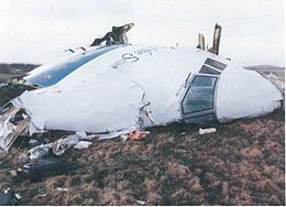 On December 21, 1988, Pan Am Flight 103 was involved in a fatal terrorist attack. While on its way from Frankfurt to Detroit, an explosion caused the flight to crash in Lockerbie, Scotland. All 259 people aboard the plane and another 11 on the ground were killed. Libyan leader, Muarmmar Gadaffi, apologized and paid compensation for the attack. It was later found that Gadaffi ordered the bombing.