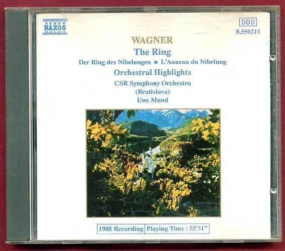 Wagner - The Ring. CD Der Ring des Nibelungen * L'Anneau du Nibelung Orchestral