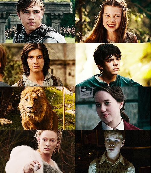 The High Kings and Queens of Narnia (Peter, Susan, Edmund, and Lucy Pevensie); King Caspian, of Narnia; General Eustace, of Narnia; Aslan, the real king of Narnia; and Jadis, the White Witch and greatest enemy of Narnia).