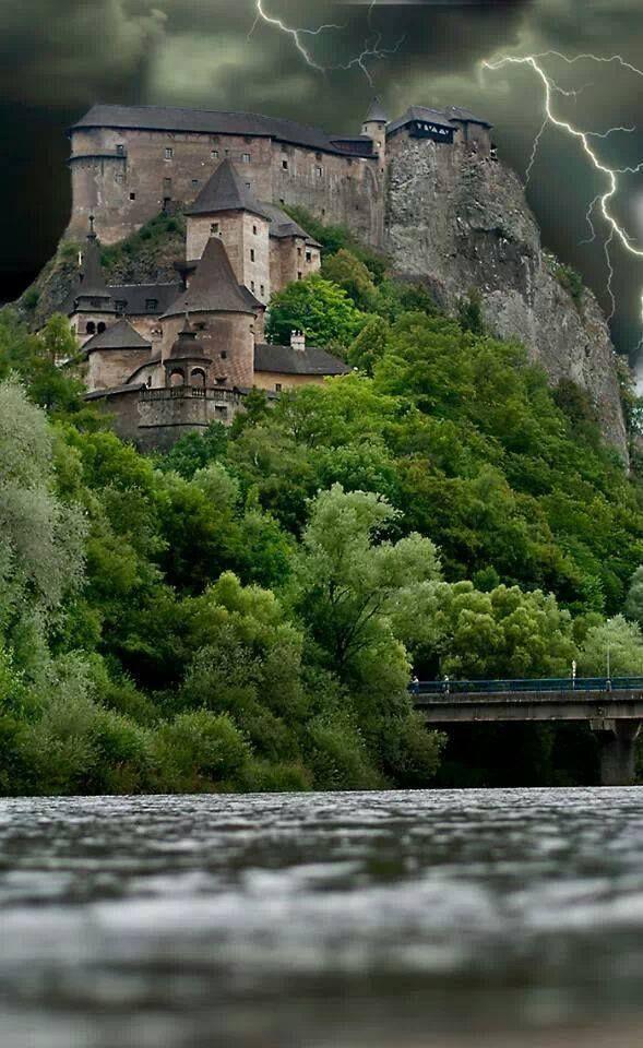 Stormy Castle, France