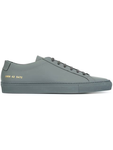 Cap-toe Canvas And Nubuck Sneakers - BlackCommon Projects