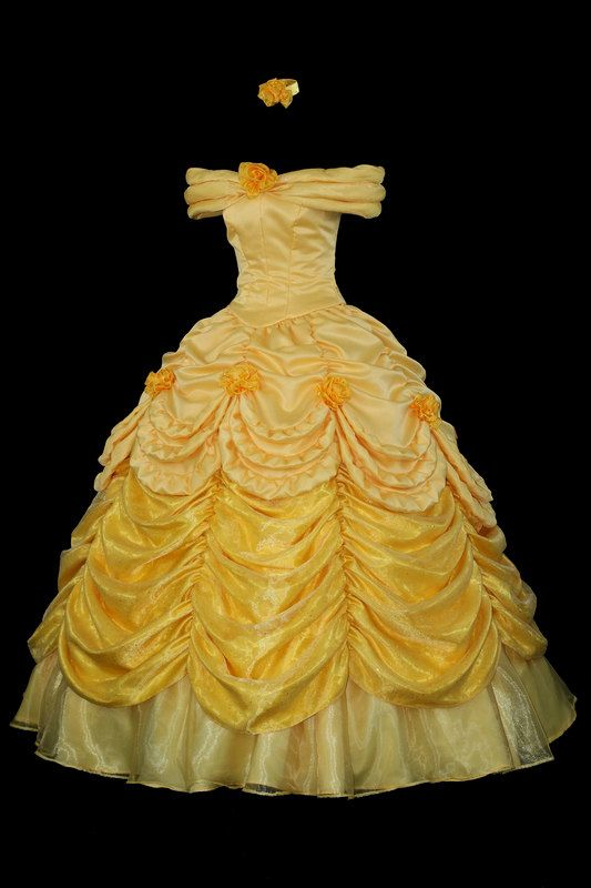 Adult  Beauty and the Beast Parade Gown Custom Costume. $1,300.00, via Etsy.