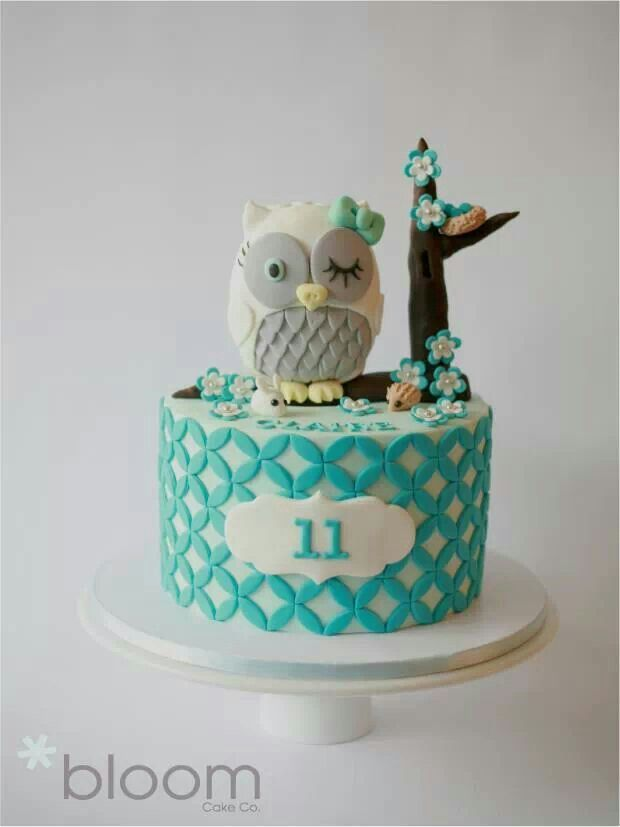 Owl cake....i know who will love this