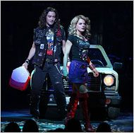 Rock of Ages - Broadway - Saw this play and it was great. This scene was hilarious how he drove the fake car