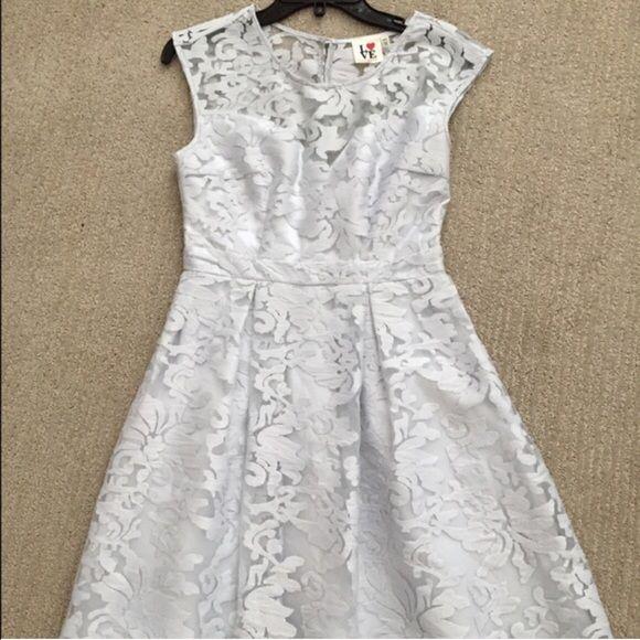 Grey lace dress Elegant Dresses Mini
