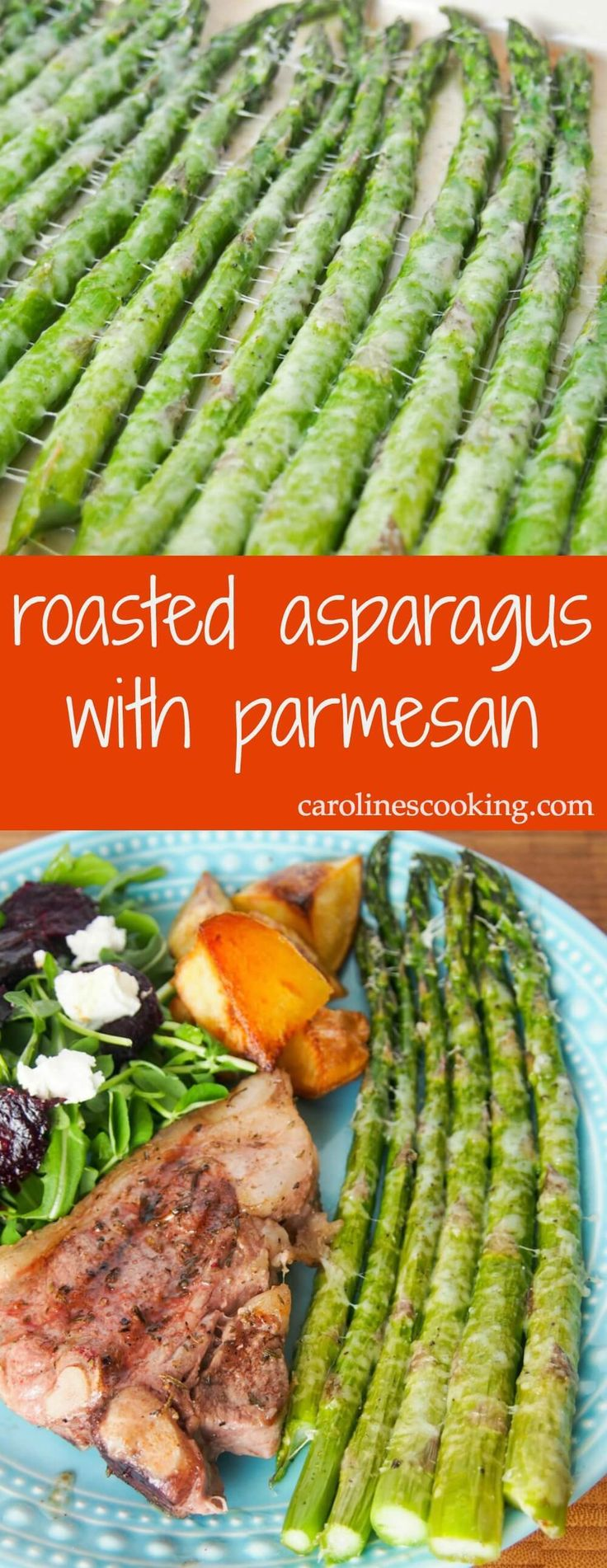 Roasted asparagus with parmesan is an incredibly easy way to prepare asparagus but you'll be amazed at how good it tastes as a result. A great side dish.