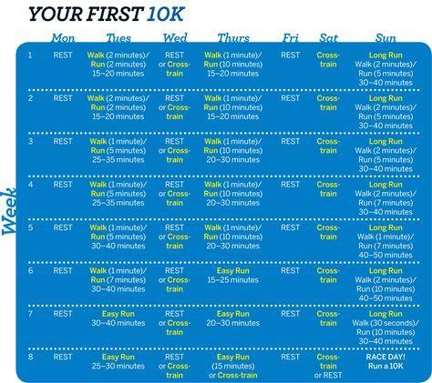 10k Training Schedule
