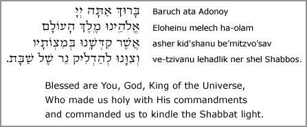 shabbat prayers | Shabbat and Festival Blessings for Candle Lighting