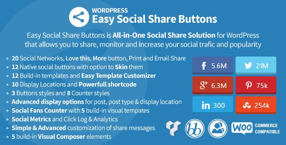 Shopping Easy Social Share Buttons for WordPressin each seller & make purchase online for cheap. Choose the best price and best promotion as you thing Secure Checkout you can trust Buy best