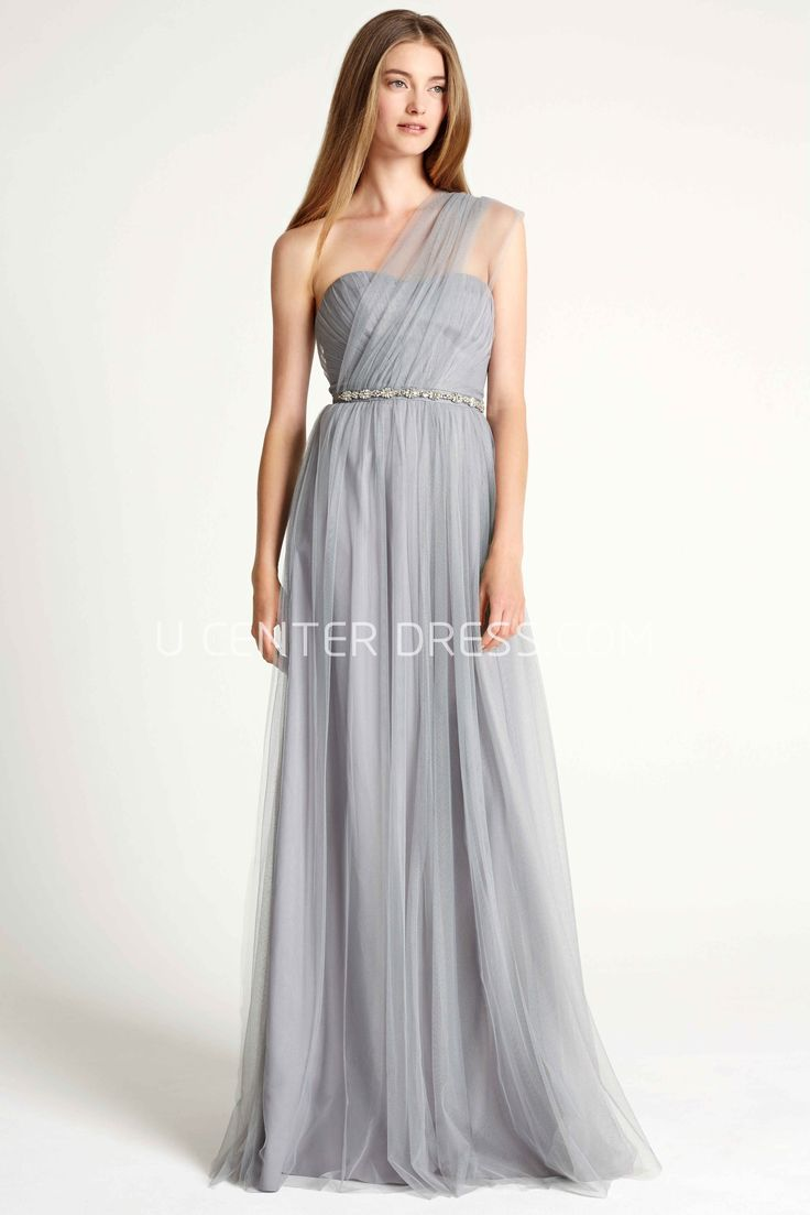 44 best amsale bridesmaids images on pinterest bridesmaids jeweled one shoulder sleeveless tulle bridesmaid dress with ruching ombrellifo Gallery