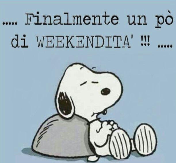 Buon Week End Mafalda Snoopy Citazioni Divertenti E