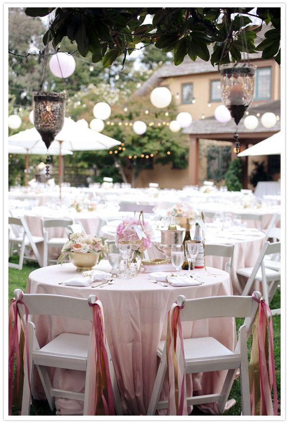 Nicht nur schön für Hochzeiten. Schöne Deko für eine Sommer Grillparty!