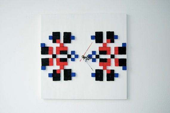 IE Carnations / Wood wall clock / Romanian authentic by DecoBoxRo