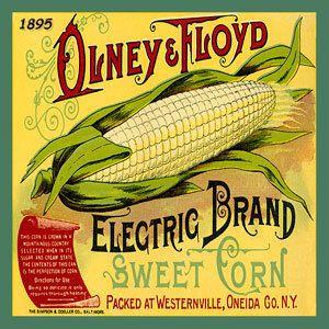 Olde America Antiques | Quilt Blocks | National Parks | Bozeman Montana : Vintage Canning Labels Hot Pads - Olney Floyd Sweet Corn