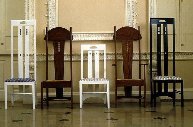 Chairs designed by Charles Rennie Mackintosh, Glasgow