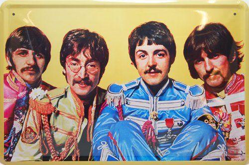 The Beatles Sergeant Peppers, Metal Tin Sign, Art Vintage Style Wall Ornament Coffee Decor, 20 X 30 Cm. Retro Tin Posters http://www.amazon.com/dp/B00CAHMRNE/ref=cm_sw_r_pi_dp_OSeLub0MFZJVV