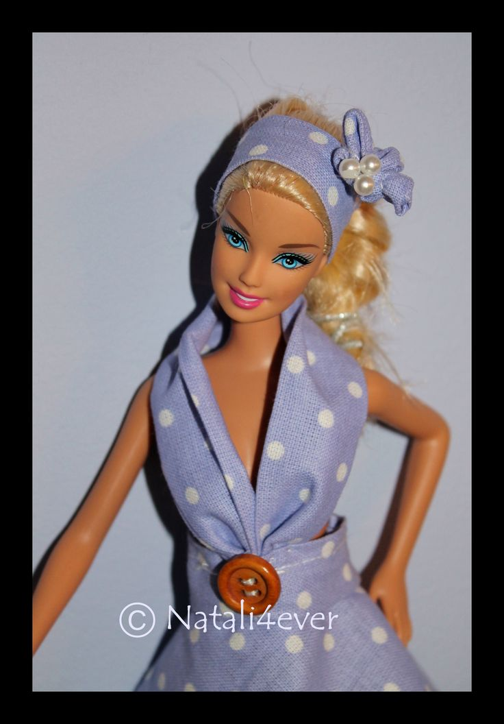 Polka dot Barbie dress