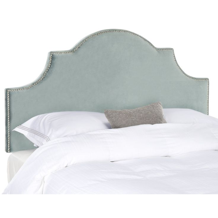 Safavieh Hallmar Wedgwood Blue Arched Size Headboard (Queen) | Overstock.com Shopping - The Best Deals on Headboards