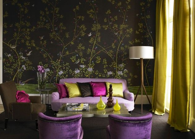 Room Decor Ideas: 35 Spring Wallpaper for Living Room