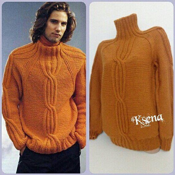 """543 Ladies Aran Sweater Knitting Pattern Crew neck 32-42/"""" 81-107cm"""