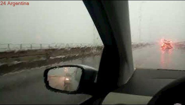 La tormenta de ayer sacudió el Puente San Roque González de Santa Cruz