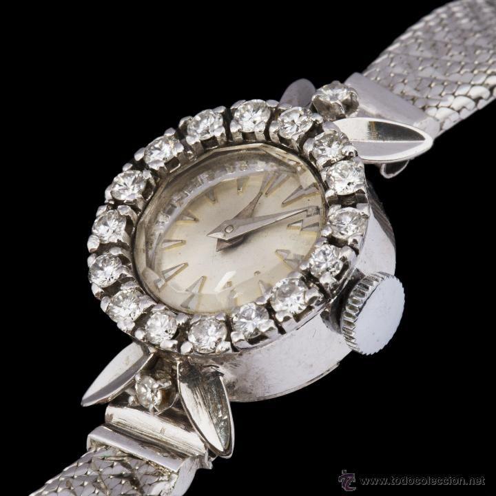 Reloj de oro platino y diamantes / Relojes en todocoleccion
