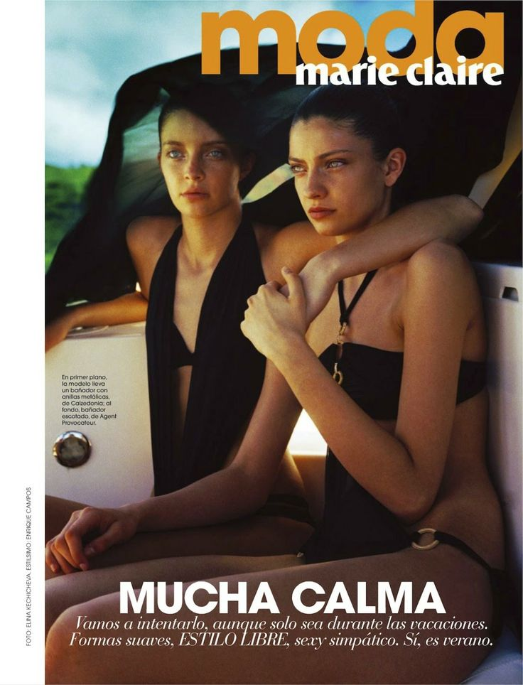 melina martin and sister by elina kechicheva for marie claire spain july 2013