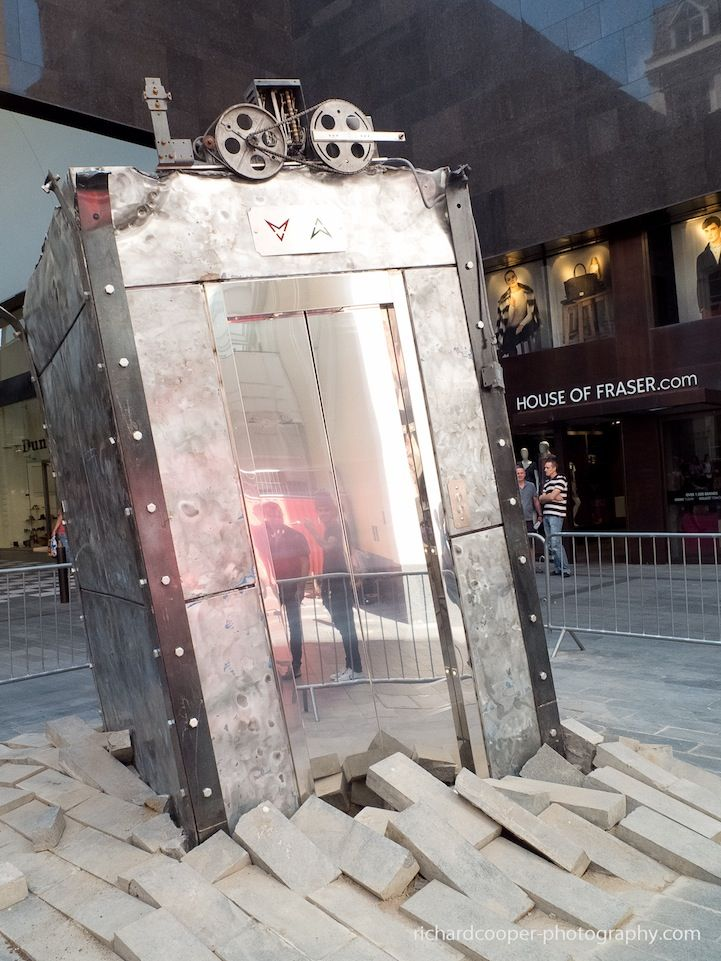 Mysterious Elevator Erupts from Underground