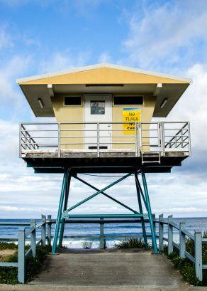 lifeguard tower at Cronulla Beach, Australia