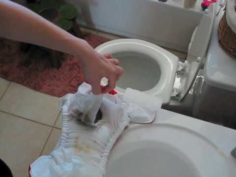 Using Flushable liners How Easy And you just flush it so no stinky poopy diaper pail as with