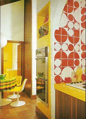 Kitchen Tiles Orange 127 best colour - orange, pink & red tiles images on pinterest