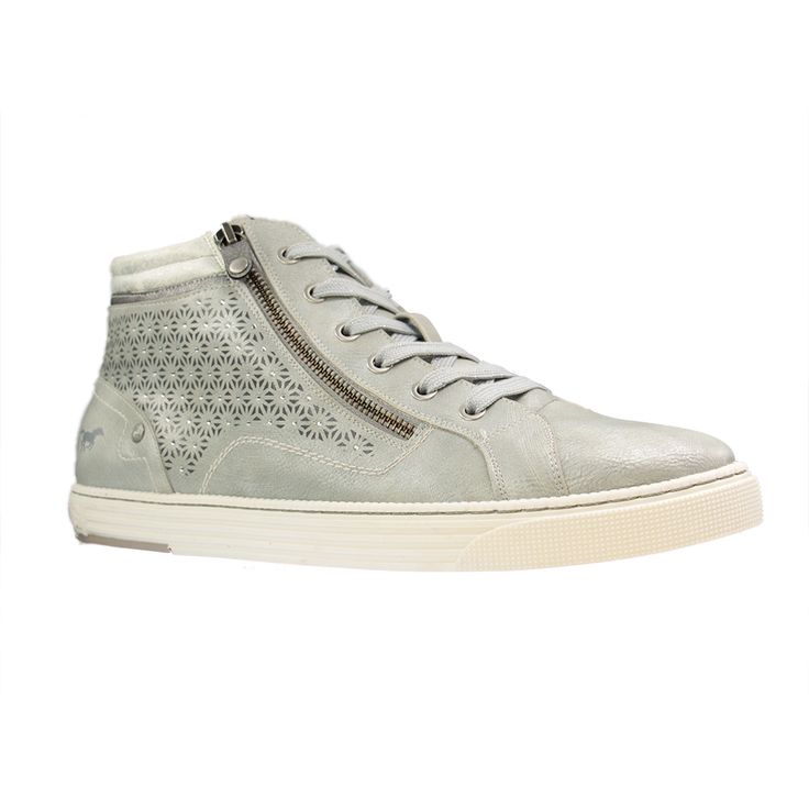 1099 502 1, Sneakers Hautes Femme, Blanc (1 Weiss), 36 EUMustang